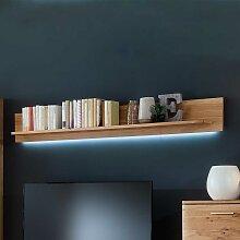 Wohnzimmer Wandboard mit Eiche Bianco furniert 180