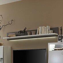 Wohnzimmer Wandboard mit LED Beleuchtung Weiß