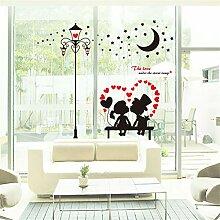 Wohnzimmer warme Wand Aufkleber Hochzeit Zimmer