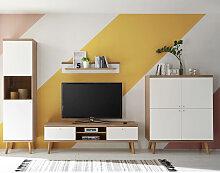 Wohnzimmer Wohnwand-Set mit Lowboard MAINZ-61
