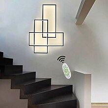 Wohnzimmerlampe LED Wandleuchte Modern Chic Eckig