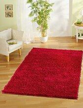 Wohnzimmerteppich / Designerteppich / Hochwertiger Shaggyteppich / sehr guter Hochflorteppich Rot / Teppich in Hochflor / Modell : Shaggyteppich Star Rot / Größe ca. 120 x 170 cm. /Shaggy mit Glanzoptik Ro
