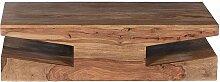 Wohnzimmertisch aus Sheesham Massivholz ungewöhnlich