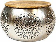 Wohnzimmertisch Couchtisch rund modern Metall und