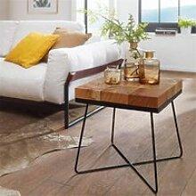 Wohnzimmertisch Modern Holztisch mit Metallbeinen