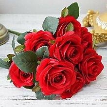 WOJUEF 10 Köpfe Künstliche Rosenblüten