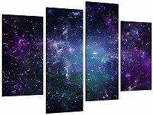 WOKCL Leinwanddruck Wandkunst malerei nachthimmel