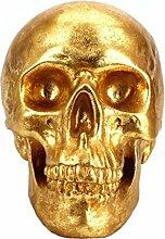 Wokee Design Deko Skull kreative goldene Knochen