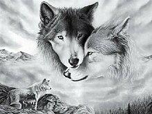 Wolf 5D Diamant Malerei Sticken Malerei Strass