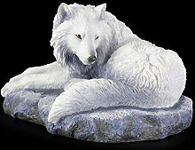 Wolf Figur - Guardian of the North von Lisa Parker