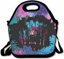 Wolf Forest Lunch Bag Tote Handbag Lunchbox For