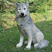 Wolf Isegrim Hund Wild Tier Gartenfigur Dekofigur
