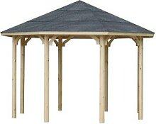 WOLFF, Holzpavillon Kreta 8 XL, achteckig,