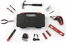 WOLFGANG 73 Teile Werkzeugkoffer mit Akkuschrauber