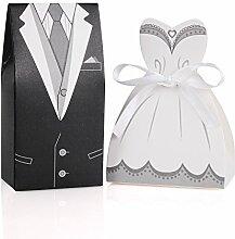 WOLFTEETH Bomboniere Gastgeschenk-Confetti Box von