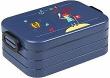 wolga-kreativ Brotdose Junge Pirat mit Namen blau