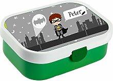 wolga-kreativ Brotdose Lunchbox Junge Kinder Held
