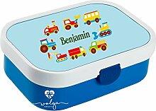 wolga-kreativ Brotdose Lunchbox Kinder Autos Junge