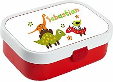 wolga-kreativ Brotdose Lunchbox Kinder Dino