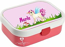 wolga-kreativ Brotdose Lunchbox Kinder Einhorn
