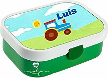wolga-kreativ Brotdose Lunchbox Kinder Traktor