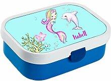 wolga-kreativ Brotdose Meerjungfrau Delfin