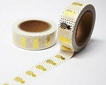wolga-kreativ Washi Tape Ananas Gold Masking