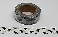 wolga-kreativ Washi Tape Baby Füße schwarz weiß