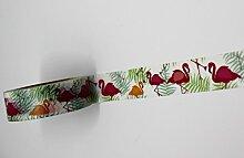 wolga-kreativ Washi Tape Flamingo Masking Dekoband