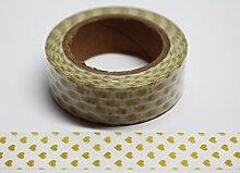 wolga-kreativ Washi Tape Herz klein Gold Masking