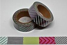 wolga-kreativ Washi Tape Muster Patchwork Masking