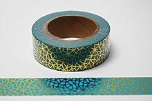 wolga-kreativ Washi Tape Petrol/Gold Masking