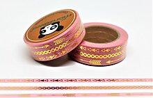 wolga-kreativ Washi Tape Set 3 schmale Bänder