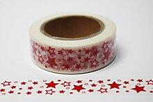 wolga-kreativ Washi Tape Sterne rot Masking