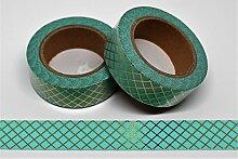 wolga-kreativ Washi Tape türkis Gold Mint Masking