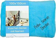Wolimbo Kinderdecke mit Namen bestickt 100x150cm
