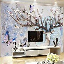 Wolipos 3D Tapete Wandbild Abstraktes Deer Deer