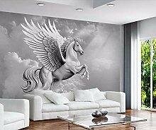 Wolipos 3D Tapete Wandbild Atmosphäre Pegasus