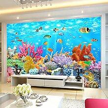 Wolipos 3D Tapete Wandbild Coral Unterwasserwelt