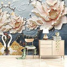 Wolipos 3D Tapete Wandbild Dreidimensionale Blume