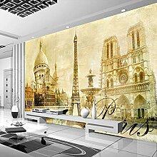 Wolipos 3D Tapete Wandbild Eiffelturm Klassisches