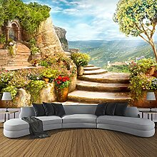 Wolipos 3D Tapete Wandbild Garten Naturlandschaft