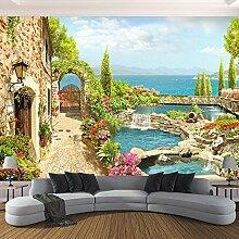 Wolipos 3D Tapete Wandbild Gartenlandschaft