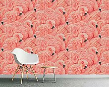 Wolipos 3D Tapete Wandbild Gemalter Flamingo