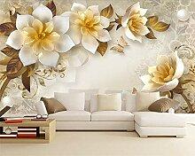 Wolipos 3D Tapete Wandbild Geprägte Blume Retro