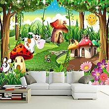 Wolipos 3D Tapete Wandbild Kinder Haus Malerei