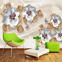 Wolipos 3D Tapete Wandbild Luxus Schmuck Blumen
