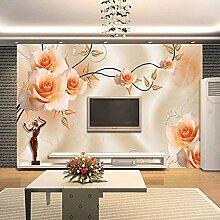 Wolipos 3D Tapete Wandbild Luxusvillen Warme Rose