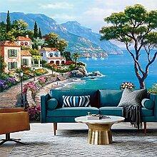 Wolipos 3D Tapete Wandbild Mediterrane Ölgemälde