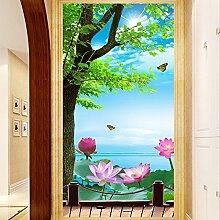 Wolipos 3D Tapete Wandbild Naturlandschaft Eingang